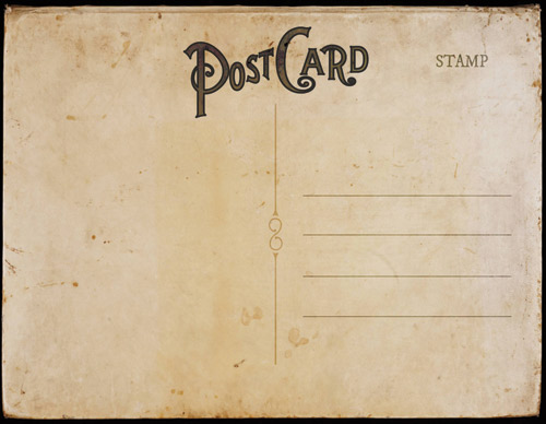 Vintage Postcard Template Back