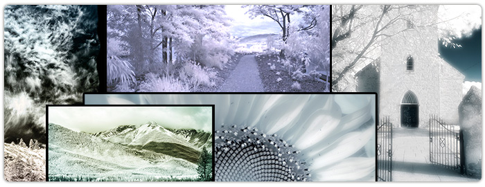 digital infrared Photoshop tutorials -  examples inspiration
