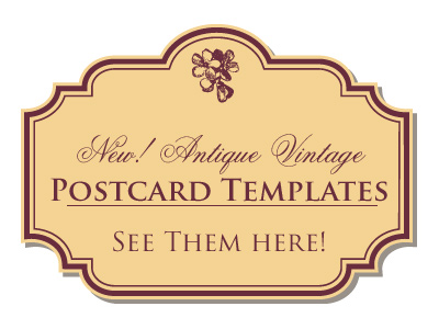 vintage postcards templates