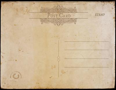 vintage postcard template back version 1