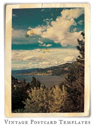 vintage postcard marketing template kit