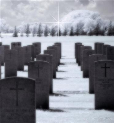 graves in infrared light